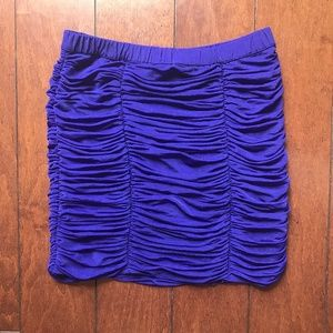 Forever 21 Purple Ruched Skirt